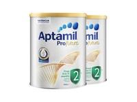 【保税区】【2罐装】Aptamil 澳洲爱他美 白金版奶粉 2段 900g(6-12个月) 【效期至21年4月】