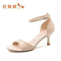 红蜻蜓 WFK8093 女凉鞋高跟鞋