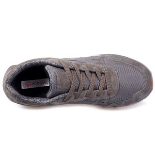 荣仕 RONGSHI 健康运动鞋男士轻便透气减震跑步休闲运动旅游老年人健步鞋 中灰色(男款) 44