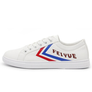Feiyue飞跃防水男女帆布鞋时尚休闲板鞋潮流百搭小白鞋 CMD-273 白红蓝 44