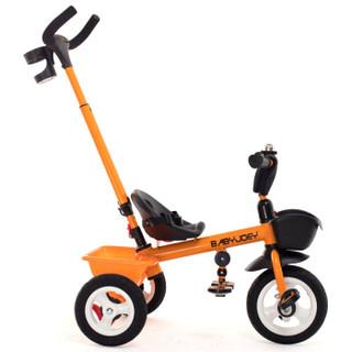 童车手推车  Babyjoey 英国 儿童三轮车脚踏车1-3-5岁 简易自行车多功能手推车  小蜜蜂  橙色