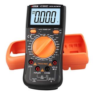 胜利仪器(VICTOR)2万电容 多功能 防烧 数字万用表 电工万能表 带测温 VC890C+