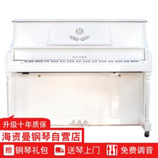 星海钢琴 海资曼HEITZMAN 123DJ白色 立式钢琴 白色亮光