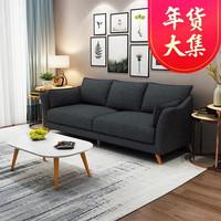 TIMI天米 北欧沙发 布艺沙发 家用小户型沙发组合(深灰色 三人位)