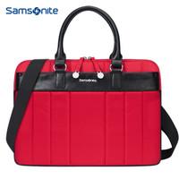 新秀丽(Samsonite)手提电脑包单肩背包MacBook苹果笔记本内胆包13.3或14英寸BP5*00003 酒红色
