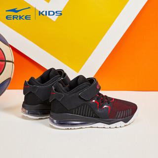 鸿星尔克(ERKE)童鞋男童大童秋冬功能篮球鞋儿童运动鞋 63119304052 大红/正黑 39码