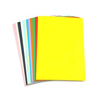 晨好(ch)230克A4彩色卡纸 硬卡纸 手工纸 黑白卡纸绘画封面纸 浅紫色 100张/包