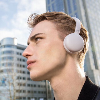 杰伟世(JVC) HA-S28BT 无线蓝牙耳机头戴式音乐运动耳机跑步带麦降噪韩版便携可爱手机电脑男女生通用 灰白