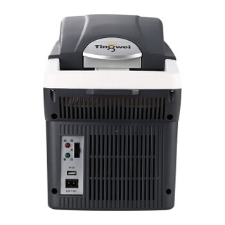 婷微(Tingwei)车载冰箱冷热箱CB-08U(深灰)TW071夏季制冷冬季加热保温冷暖箱便携8L大空间USB接口