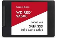 WD 西部数据 红色 SA500 NAS 500GB 3D NAND 内置 SSD - SATA III 6 GB/S,2.5