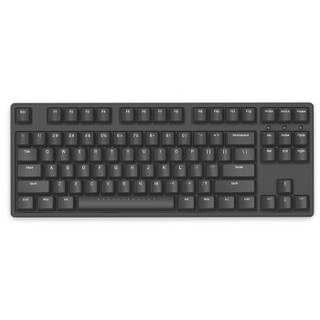 iKBC W200 无线机械键盘(cherry静音红轴、黑色正刻、无光、无线、黑色、87键)