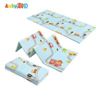 澳贝(AUBY)婴儿童折叠爬行垫爬爬垫游戏毯滑滑梯地垫欢乐交通折叠地垫男孩女孩玩具新年礼物461157