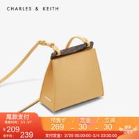 CHARLES&KEITH CK2-80270210 琥珀条装饰女士单肩包