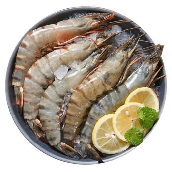 沃派 越南进口超大黑虎虾 净虾400g 生鲜 8-10只 *2件