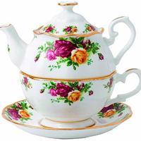 Royal Albert 玫瑰骨瓷茶具3件套