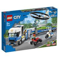 88VIP:LEGO 乐高 City 城市组 60244 警用直升机运输车