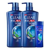 CLEAR 清扬 活力运动薄荷 男士去屑洗发露 500g*2+100g+赠清扬去屑洗发露200g+牙刷