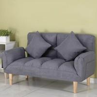 迈菲诗 SY 简易折叠布艺沙发+两个抱枕