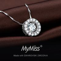 Mymiss 人工锆石 银饰项链