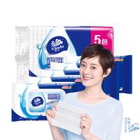 维达 湿厕纸纸巾 40片*5包优惠装(加送抽纸一包)擦走细菌 *2件