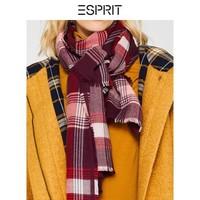 ESPRIT 埃斯普利特 099EA1Q008 女士格子毛边围巾