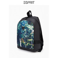 ESPRIT男裝秋雙肩背包男休閑植物印花拉鏈大容量旅行包