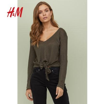 H&M 0708428 女士长袖T恤