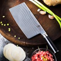 贝印shun旬刀 中华菜刀大马士革 日本刀具中式厨刀 持久锋利超薄