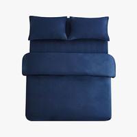 当当优品 纯棉日式四件套 1.5m床 深蓝色
