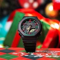 卡西欧 G-SHOCK 情侣手表冬日圣诞主题