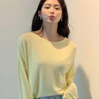 韩都衣舍 EQ131690002 女士长袖T恤