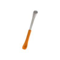 啵儿 幼儿软硬两头两用勺 不锈钢勺 调羹 桔色 *3件