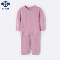 俞兆林 YUZHAOLIN 童装儿童家居服两件套 时尚英文-紫色 90 *3件