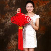 伟龙 8盘中国结 元旦春节喜庆装饰 年货 绒布中国结 *2件
