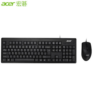 宏碁(acer)KB21-2X 键鼠套装  黑色