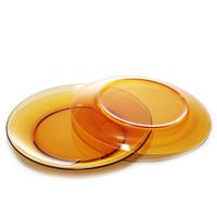 法国多莱斯钢化玻璃西餐菜盘子牛排盘2只装23.5cm 琥珀色 *4件