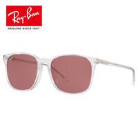 RayBan雷朋太阳镜 2019特护目镜 0RB4387F 宝岛 912/75-透明镜框红紫色镜片