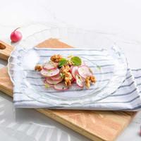 多莱斯钢化玻璃餐具西餐盘菜盘饺子盘牛排盘家用2只装 *4件