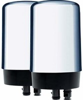 BRITA 碧然德 水龙头净水系统 替换过滤器 铬面 2个