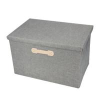 EDO 日式衣服收纳箱有盖可折叠衣物储存箱居家布艺衣柜收纳盒 中号 TH1194 *3件