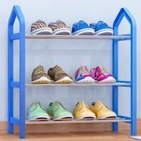 索尔诺 简约鞋架 组合层架置物架子收纳鞋柜323 k323黑色 *2件