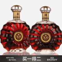 法国进口酒液 洋酒XOXO白兰地 洋酒 礼盒装 法国原液进口700ML
