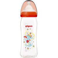 贝亲(Pigeon)宽口径玻璃奶瓶240ml 生肖限量版彩绘奶瓶 婴儿奶瓶 自然实感M码宽口奶嘴(鼠 红色)PL382