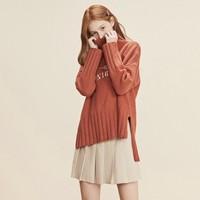 LED'IN 乐町 C1EB84301-128359 高领羊毛混纺针织衫