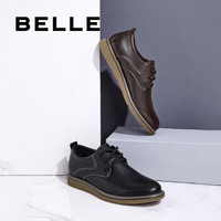 BeLLE 百丽 B3H10CM8 牛皮系带男皮鞋