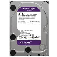 WD西部数据紫盘3t监控级台式机械硬盘WD30EJRX/PURX3.5西数紫盘3t
