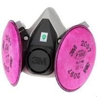 3M 6200 防尘毒半面罩套装(6200面具主体+2097CN滤棉三件套)