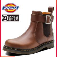 Dickies切尔西靴子男冬季新款英伦风高帮机车工装靴厚底皮靴子潮