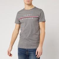 银联专享:Tommy Hilfiger 汤米·希尔费格 Split Logo 男款T恤