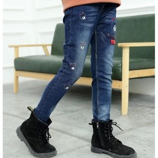 伊诺小镇 女童加绒加厚牛仔裤